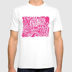 Better Surfed Out than Stressed Out SMALL Mens Fitted Tee White