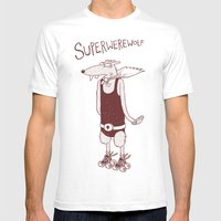 Superwerewolf Mens Fitted Tee White SMALL