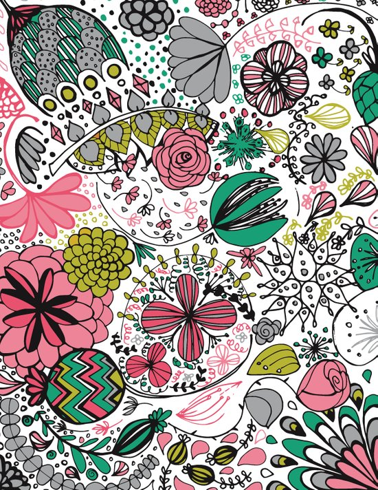 Doodle Flower Canvas Print