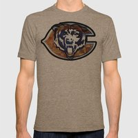 Chicago Bears Mens Fitted Tee Tri-Coffee SMALL