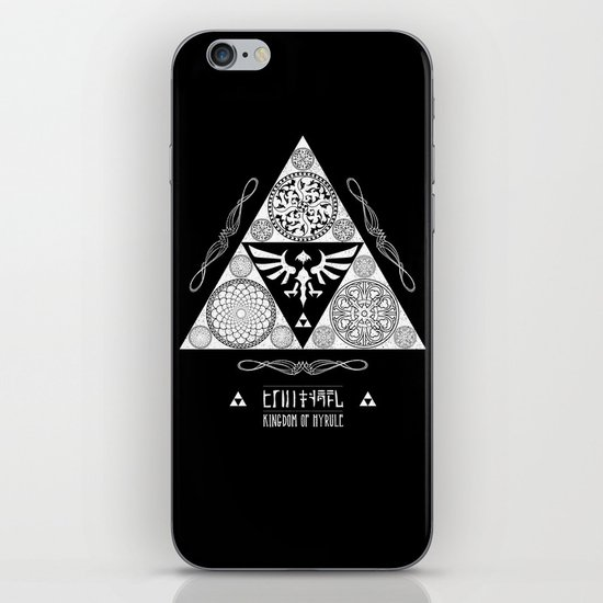 Legend of Zelda Kingdom of Hyrule Crest Letterpress Vector Art iPhone & iPod Skin