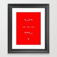 Love In Morse Framed Art Print