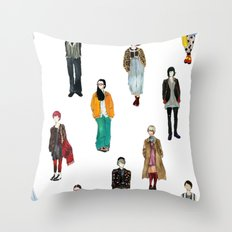 Japanese Street Snap Throw Pillow