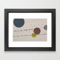Chaos On The Wires Framed Art Print
