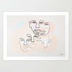 And they are all a story to be told Art Print