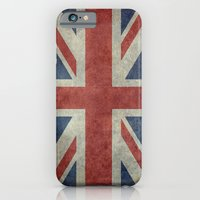 iPhone Cases featuring England's Union Jack (3:5 Version) National flag of the United Kingdom - Vintage retro version by LonestarDesigns2020 - Flags Designs +