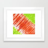Pleated And Laced Framed Art Print