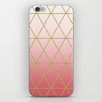 Rose Gold Geometric iPhone & iPod Skin