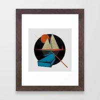 Mountain & Stars Framed Art Print