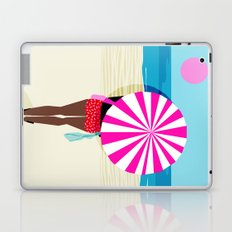 Fer Sure - throwback beach retro socal surfing sport 1980s neon classic 80s style memphis pop art Laptop & iPad Skin