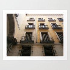 spanish windows Art Print