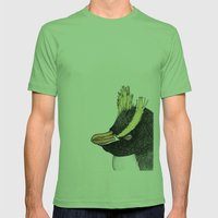 Erect Crested Penguin Mens Fitted Tee Grass SMALL