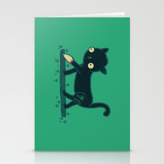Make Your Own Luck Stationery Card
