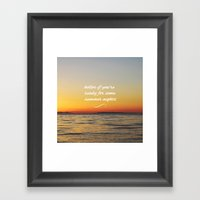 Summer Nights Framed Art Print