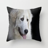 Great Pyrenees -Forest- Throw Pillow