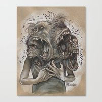 One Screaming Monkey At … Canvas Print