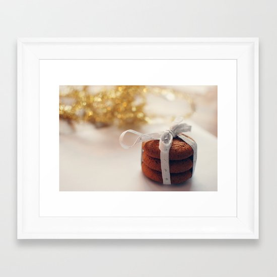christmas cookies Framed Art Print
