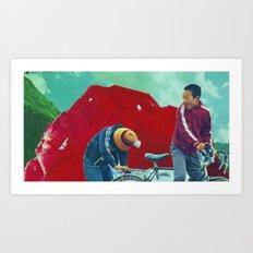 Return to Ruby Mountain Art Print