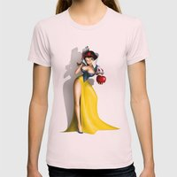 Snow White Womens Fitted Tee Light Pink SMALL