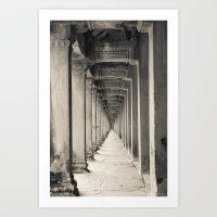 Angkor Vat Perspective Art Print
