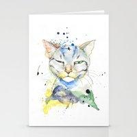 Suspicious Cat Stationery Cards
