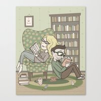 Book Lovers Canvas Print