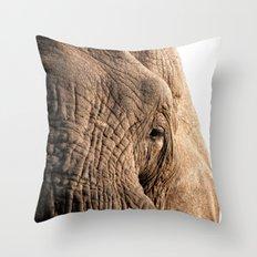 Elephant, into the wild.  Throw Pillow