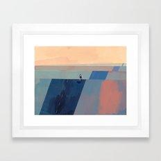 Keep Going - Blue Edition Framed Art Print