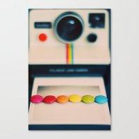 over the pola rainbow Canvas Print