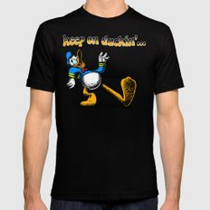 keep on duckin SMALL Mens Fitted Tee Black
