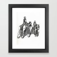 X-Ray Horsemen Framed Art Print