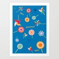 Spin! Pinwheel Spin! Art Print