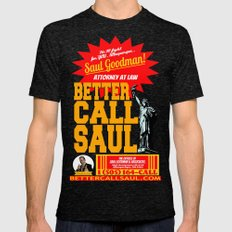 BETTER CALL SAUL  |  BRE… Mens Fitted Tee Tri-Black SMALL