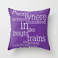 Thundering Problems And Whispering Solutions Throw Pillow