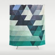 Shower Curtain featuring Aqww Hyx by Spires