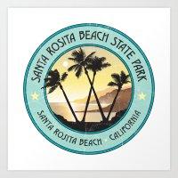 Santa Rosita Beach State… Art Print