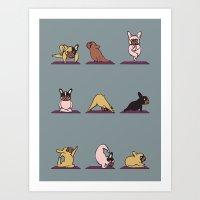 Frenchie Yoga Art Print