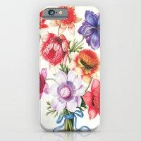 XI. Vintage Flowers Botanical Print by Pierre-Joseph Redouté - Anemones iPhone 6 Slim Case