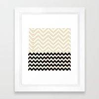 Double Chevron Framed Art Print
