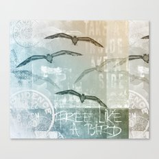 Free Like A Bird Canvas Print