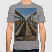 Cross The Bridge Mens Fitted Tee Athletic Grey SMALL
