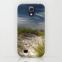 Galaxy S4 Cases featuring Light Tower and Dunes by UtArt