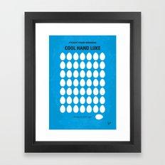 No616 My Cool Hand Luke minimal movie poster Framed Art Print