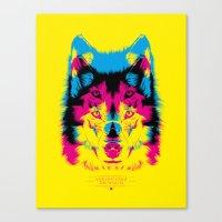 Wolf CMYK Canvas Print