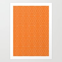 Orange Hex Art Print