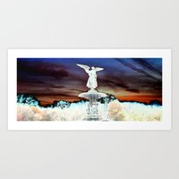 Angel's Perspective Art Print