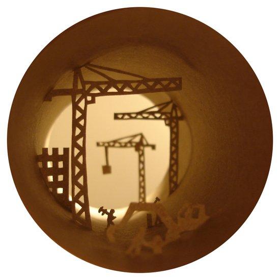 Building yard (Chantier) Art Print