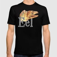 E is for Eel Mens Fitted Tee Black SMALL