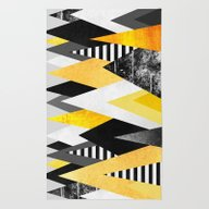 Rug featuring Yellow Peaks by Elisabeth Fredriksso…
