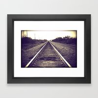 You Can Only Move Forwar… Framed Art Print
